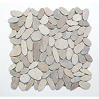 mosaico azulejos Espejo para baldosas mosaico baño o cocina Salón Kiesel corte piedra natural 9mm # K390