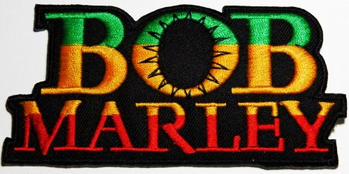 Aufnäher bob marley patches Music Band patches Logo music Embroidered Iron on Patch 11.5x5.6 cm