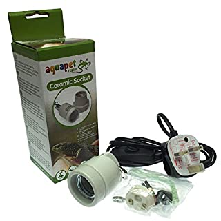 Reptile Vivarium Ceramic Kit Bulb Lamp Heater Holder Hanging Screw Type ES 1