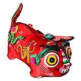 Tela Tradicional China Bordado Punto Juguetes Hechos Mano Tiger Pillow Artwork, Cumpleaños Niños Regalos Año Nuevo, Decoraciones del Hogar,Red