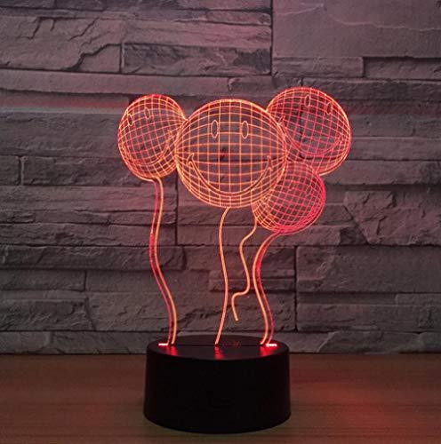 lusions-Lampen LED Ballon 7 Farben Touch-Schalter Ändern Nachtlicht Für Schlafzimmer Home Decoration Hochzeit Geburtstag Weihnachten Valentine Geschenk ()