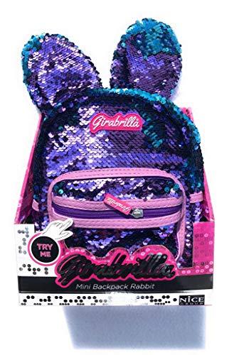 GIRABRILLA Nuovo Mini Backpack Rabbit Zaino con Orecchie Colore Viola -Azzurro di Nice