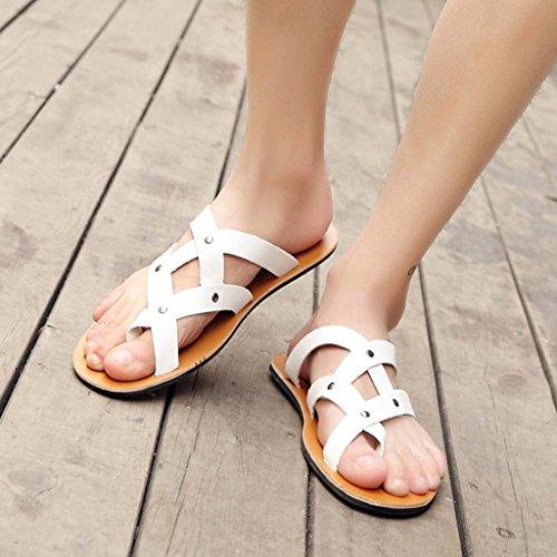 ZXCV Scarpe all'aperto Scarpe da spiaggia calzature traspiranti scarpe da sole in gomma da sole estate Bianca