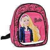 Unbekannt großer Rucksack Barbie mit Glitzereffekt für Kinder - mit 2 Fächern Kinderrucksack groß Kind Barbiepuppen für Mädchen z.B. für Kindergarten und Vorschule