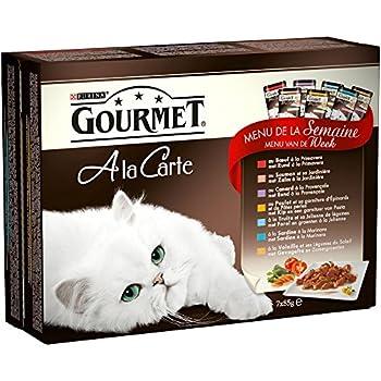 Gourmet à la Carte Repas pour chat adulte Menu de la Semaine 7 x 85 g - Lot de 10 (70 sachets fraîcheurs)