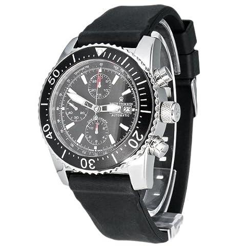 Revue Thommen Men's Automatic Watch Diver Professional Automatic Chronograph 17030.6534 with Rubber Strap
