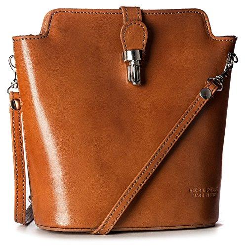 Big Handbag Shop, Borsa a tracolla donna One Marrone (Light tan)