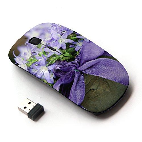 ARTECH [ Mouse Senza Fili Ottico 2.4G ] [ Flowers Meadow Pot Bow Close-Up ]