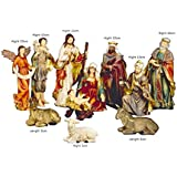 Heirloom Quality O Come Let Us Adore Him Nativity Figurine (Set of 10), Multicolor
