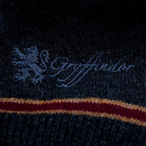 Harry Potter Gryffindor Sweater Hogwarts Uniform Pullover vom Filmausstatter made in Schottland 100% Lammwolle Schwarz