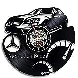 Mchoff Reloj de Pared LED Record - Decora tu hogar con un Regalo de Arte Moderno para Hombres, Mujeres y niños. Vinilo Mercedes Benz.