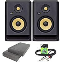 KRK Rokit RP5 G4 Professional Active Powered DJ Studio Monitor Speakers with Isolation Pads & Cable