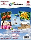 LabelOcean Premium Fotopapier 100 Blatt A6 270g/qm Highglossy hochglänzend wasserfest