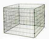 myGardenlust Gitter Komposter - Schnellkomposter aus Stahl mit Kunststoff - Thermokomposter mit Klappe - Kompostierer stabil und hochwertig - Composter für Garten-Abfälle Grün | 660L