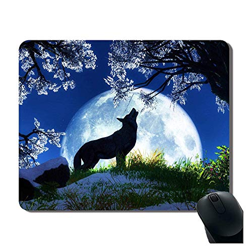 Mousepad, Howl Under The Moon ity Rectangle Mouse Pad Mat 7'x9',Cherry,