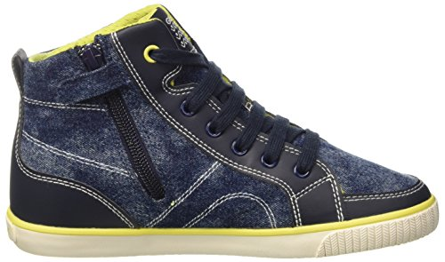 Geox Jungen Jr Kiwi Boy O High-Top Blau (NAVY/LIMEC0749)