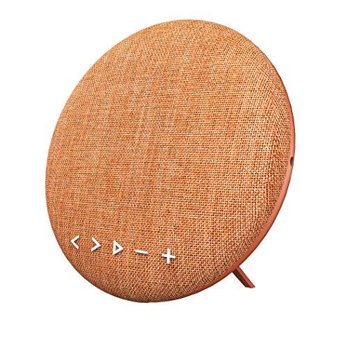 Soundance 12W BluetoothL autsprecher Mit integriertem Freisprech-Mikrofon, LED-Anzeige, Musikwiedergabe direkt von Micro SD/TF Karte und USB-Stick, 3,5 mm Audio-Eingang (Line-In) - Modell F6 (orange)