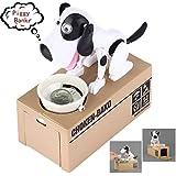 Choken Bako Dog Piggy Bank Doggy Coin Bank Canine Money Box (White Dog)