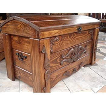 Decocraft Wooden Blanket Box Coffee Table Trunk Vintage