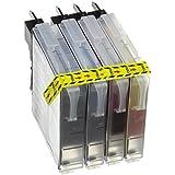 Prestige Cartridge LC1100/LC985 Pack de 12 cartuchos de tinta para Brother MFC/DCP Serie, negro/cian/magenta/amarillo