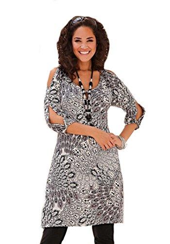 Your Life Your Fashion -  Vestito  - Tunica - Donna in bianco e nero