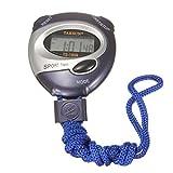 KUNSE Digitale Handheld-Sport-Stoppuhr Stop Watch Zeituhr Alarm Counter Timer Blau