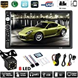 ulofpc 7-Zoll-Auto-Touch-MP5-Player Bluetooth HD-Touchscreen Stereo-Autoradio Multimedia All-in-One + Kamera