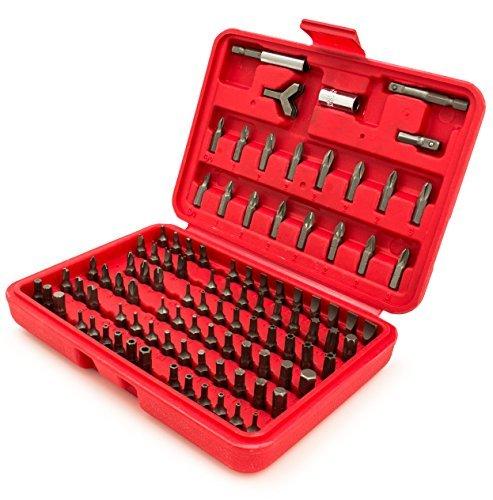 Bastex 100 Stück Security Bit-Set Torx Stern Tamper Schrauben Sechskantschlüssel Phillips Schlitz Tri Wing -
