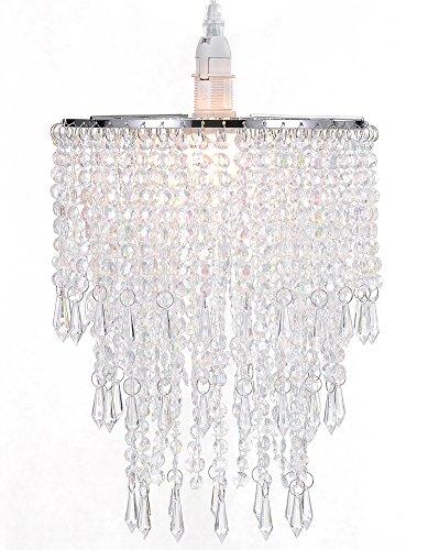waneway-lampara-candelabro-de-3-hileras-de-sombra-ligera-con-gotas-de-acrilico-abombado-con-marco-de