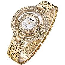 381a2d6a1a3b Reloj Dorado Mujer Moda Baratos Pulsera De Oro-Tono Del CíRculo Diamantes
