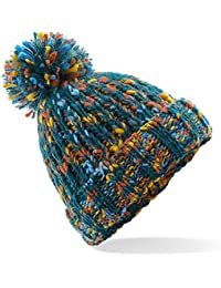 2e40bfd88fe ASVP Shop Corkscrew Cable Knitted Bobble Hat Plain Mens Womens Beanie Warm  Winter Pom Wooly Cap