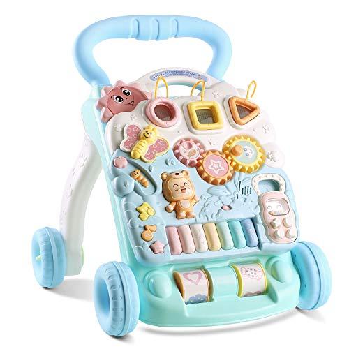 HOMFA Bébé premiers pas d'activité Walker-Jouets 2 en 1 Baby...