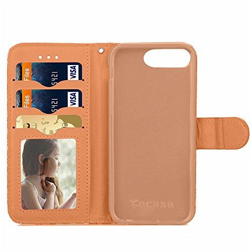 Voguecase® Pour Apple iphone 7 Plus 5,5 Coque, Étui en cuir synthétique chic avec fonction support pratique pour iphone 7 Plus 5,5 (motif lumineux-Vert)de Gratuit stylet l'écran aléatoire universelle Diamant 3D-Or
