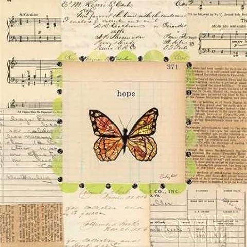 Feeling at home, Stampa artistica x cornice - quadro, fine art print, Speranza farfalla cm 61x61