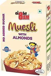 8 AM MUESLI Almond (NO.ADD.Suger) 425gms