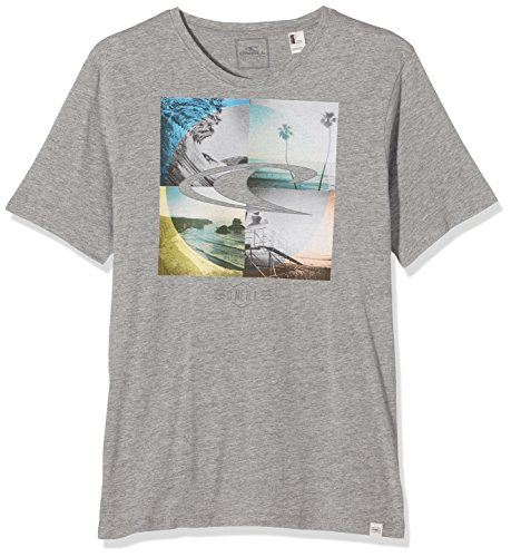 O'Neill Herren T-Shirt LM CAPTURE FRAMES T-SHIRT Grau - Grau (Silver Melee)