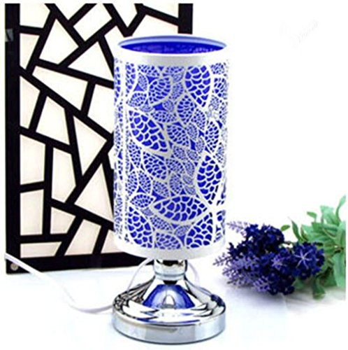 Lampada ferro intaglio vassoio di vetro aromaterapia elettrico plug-in Touch Sensitive dimmerabile da letto Soggiorno Studio Beauty Salon Decoration , purple