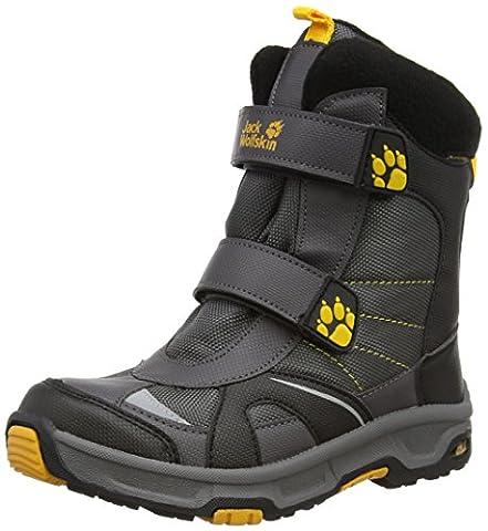 Jack Wolfskin BOYS POLAR BEAR TEXAPORE, Jungen Warm gefütterte Schneestiefel, Grau (dark steel 6032), 34 EU (2 Kinder