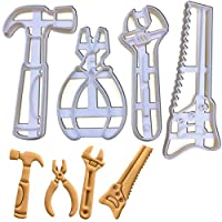 Set of 4 Hand Tools Cookie Cutters (Designs: Wrench, Hand Saw, Hammer, and Pliers), 4 Pieces - Bakerlogy