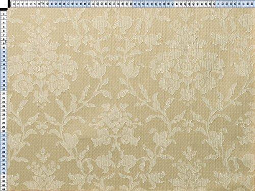 Tessuto da tappezzeria, rivestimento in tessuto, tessuto da tappezzeria, tessuto, tessuto, tessuto - Fiorella, Pearl White - bella jacquard con motivi floreali di Web della