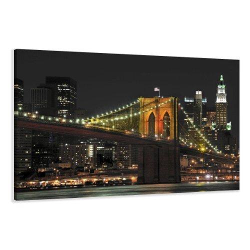 120-x-80-cm-Bild-auf-Leinwand-New-York-USA-Brooklyn-5055-SCT-deutsche-Marke-und-Lager-Die-Bilder-das-Wandbild-der-Kunstdruck-ist-fertig-gerahmt