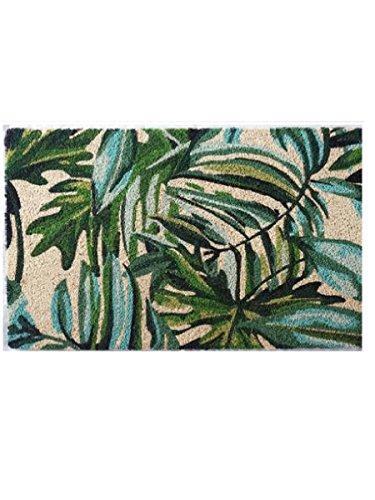 Montemaggi Kokosmatte Flamingo und Blätter 70 x 40 x 2 cm -
