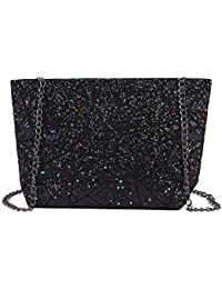 AiSi Geometric Pu Leather Shoulder Handbags Holographic Clutch Bag Metal  Chain Satchel Purse 7e5699fe0ed4c