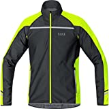 GORE WEAR Mythos 2.0 Windstopper Soft Shell Zip-off Light, Giacca Uomo, Nero/Giallo Neon, S