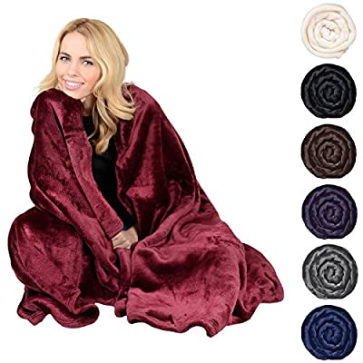Deluxe Plush Fleece Blanket Soft Cashmere Touch Luxury Warm Home Sofa Bed Throw produced by XSS - quick delivery from UK.