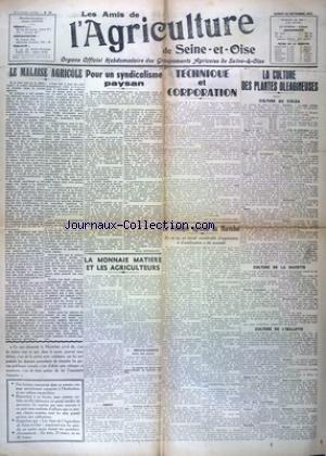 AMIS DE L'AGRICULTURE DE SEINE ET OISE (LES) [No 15] du 20/09/1941