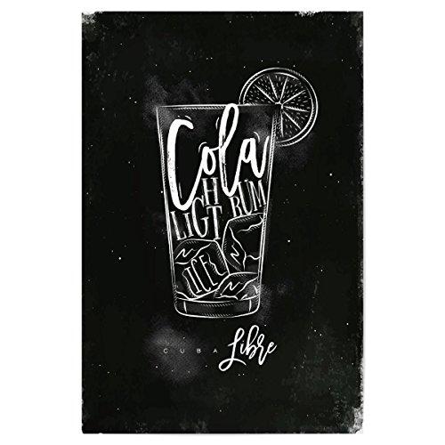 artboxONE Poster 30x20 cm Cuba Libre Cocktail Chalk von Künstler Anna Kozlenko