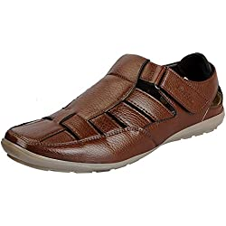 BATA Men's Sandals (10UK/INDIA (44EU), Brown)