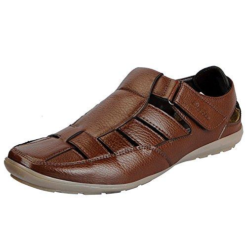 BATA Men's Sandals (9UK/INDIA (43EU), Brown)