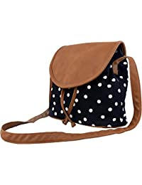Ankit Fashion Women's Sling Bag Set Of 4 (Black And Brown,Bnb315Ly-Bl)